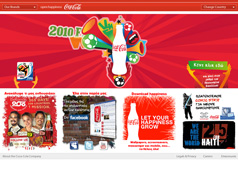 Coke 2010 World Cup Page
